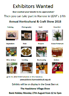 Harrow in LEAF 2018 Exhibitors poster
