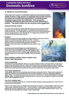 Harrow Bonfire Guidelines